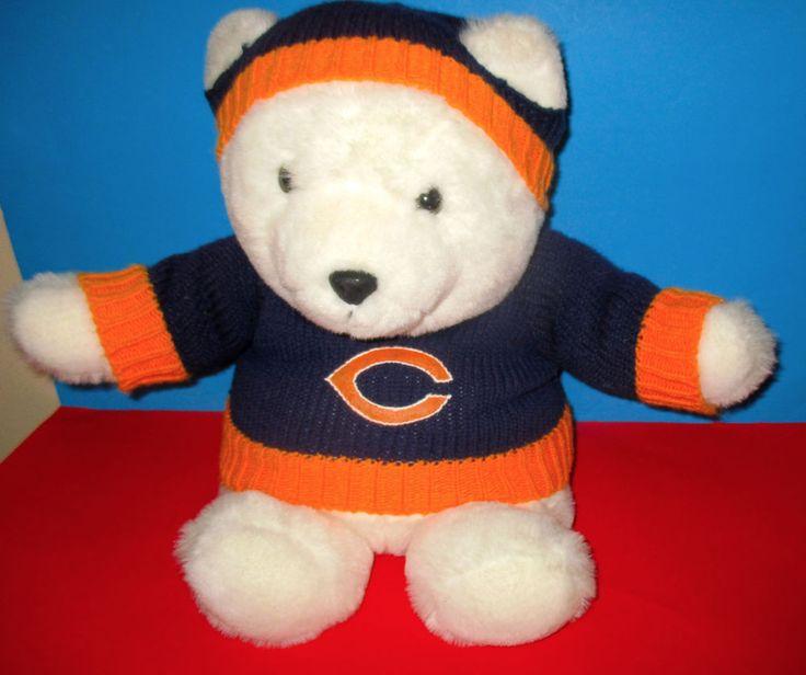 VINTAGE -CHICAGO BEARS, PLUSH BEAR Chosun- MARSHALL FIELDS? VERY CUTE! #ChicagoBears #plush #sportsmemorbelia #sports #fansouvenirs #NFL #toys #stuffedanimals #americanfootball #football http://stores.ebay.com/vinylrockretro