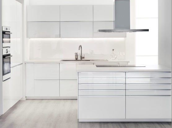 White featherdream - ikea kitchen