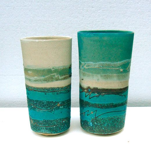 Ceramics by Sarah Perry at Studiopottery.co.uk - 2010. Seascape ovals