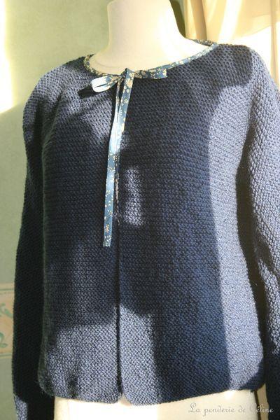 gilet tricote main