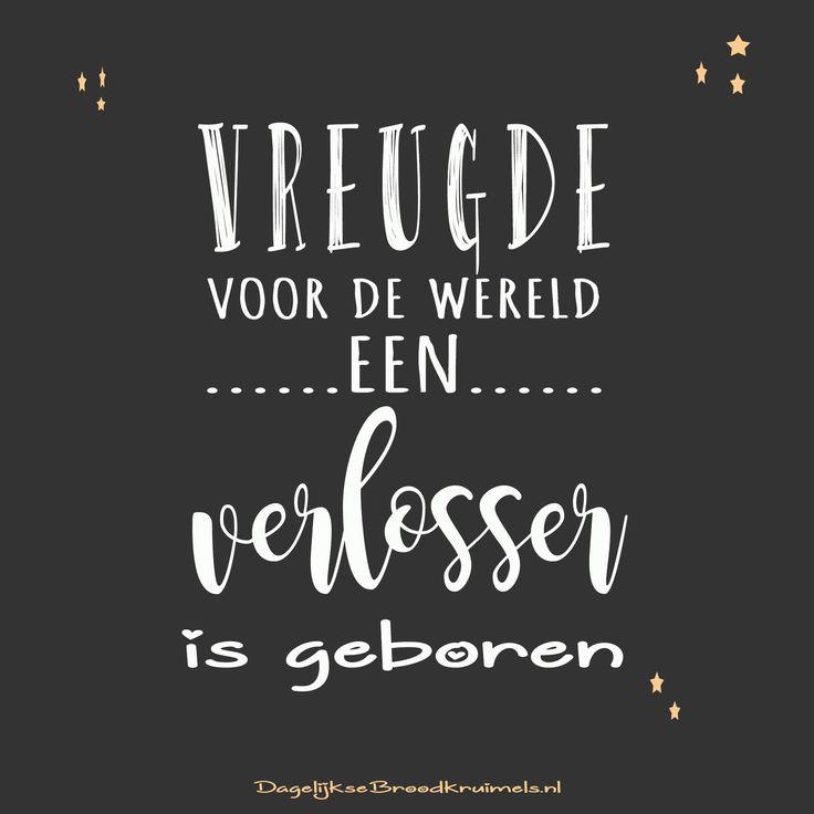 Vreugde voor de wereld een verlosser is geboren #Dankbaarheid, #Jezus, #Kerst https://www.dagelijksebroodkruimels.nl/vreugde/