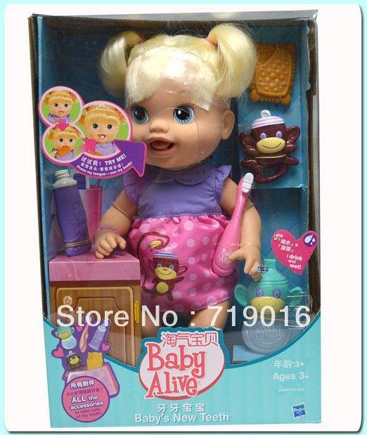 Bonecas& acessórios 2013 original lalaloopsy hasbro baby alive loira moda bonecas crianças brinquedosdepl&aacu...