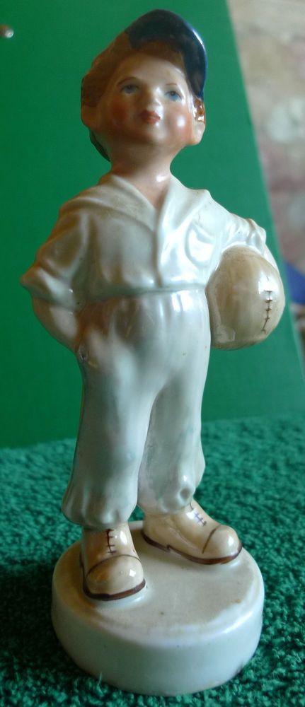 USSR Soviet Latvia Lettland Riga porcelain figurine Football Goalkeeper RPF