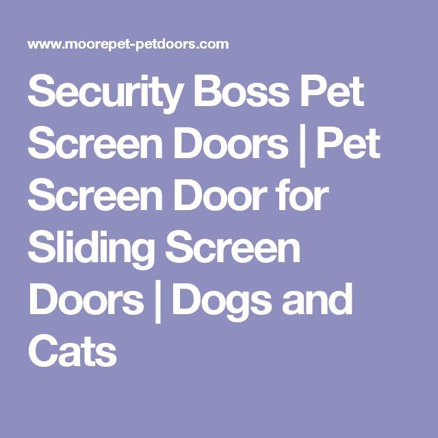 Security Boss Pet Screen Doors   Pet Screen Door for Sliding Screen Doors   Dogs and Cats