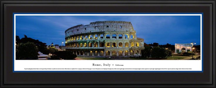 Rome, Italy-Coliseum Panoramic Picture Framed