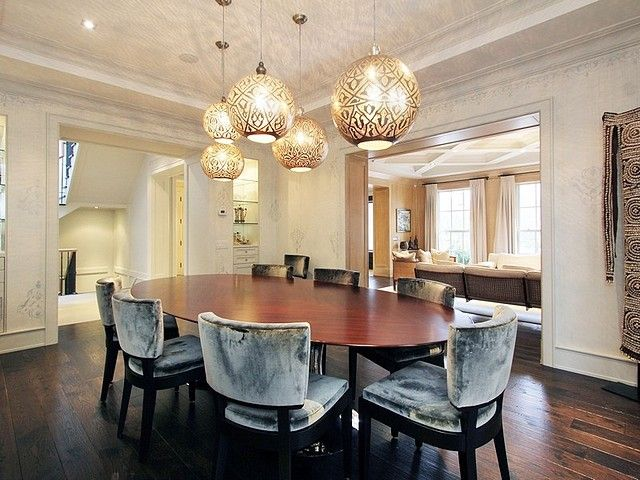 115 Rochester Avenue On The Bridle Path Dining Room Is Lit By Hammered Tin Cut Out Pendants From Cairo Via Toronto Life