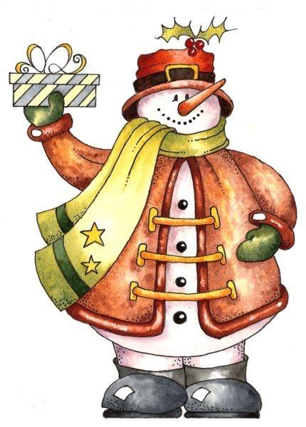 скрап картинка снеговик рождением племянника