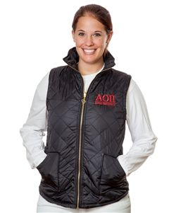 Alpha Omicron Pi Sorority Puffer Vest Sorority Merchandise Including Bid Day Gifts, Initiations, Sorority Gifts, BigSis-LilSis, And More.