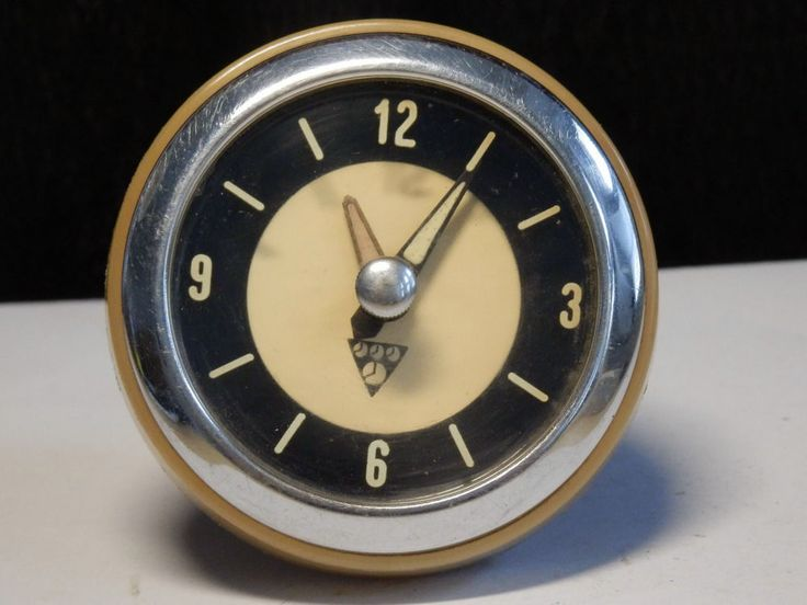 RARE Vtg. Czechoslovak PRAGOTRON BUS oldtimer 6V electric dashboard clock watch