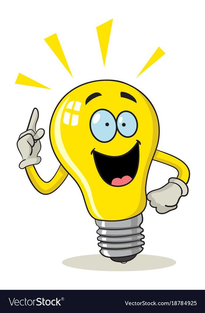 Cartoon Light Bulb Royalty Free Vector Image Vectorstock Cartoon Light Bulb Art Drawings For Kids Cartoon Clip Art