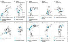 Dehnen Übungen statisch Beweglichkeit