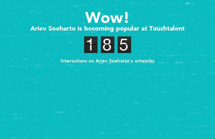 Ariev Soeharto is becoming popular @touchtalent.com
