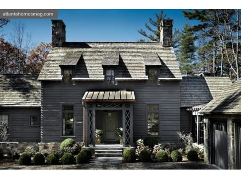 love this house...we're going for the monochromatic grey.  Country Chic | Atlanta Homes & Lifestyles