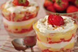Strawberry Trifle: Maybe not the exact recipe I'll use, but close. Maybe Bird's custard instead of lemon curd?