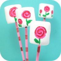 These are so cute!  Painted Marshmallows...