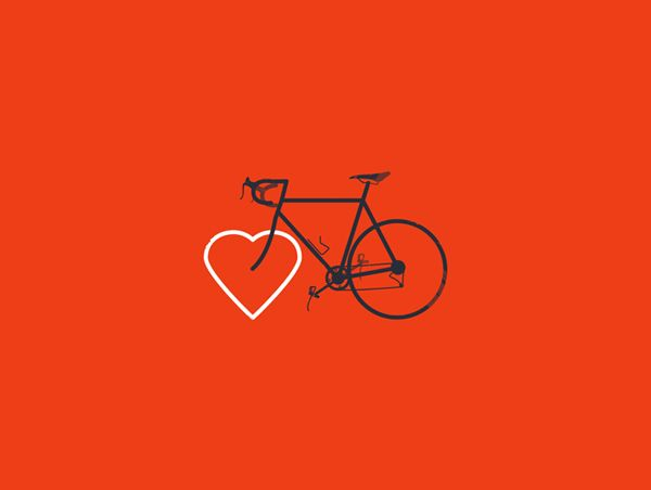 heart the bike poster