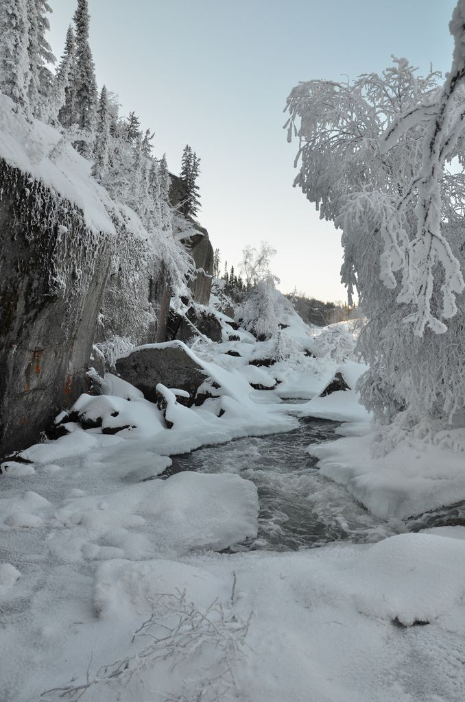 Lower Cameron Falls on -40c Morning | Flickr - Photo Sharing!