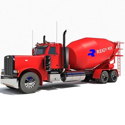 3D Concrete Mixer Truck