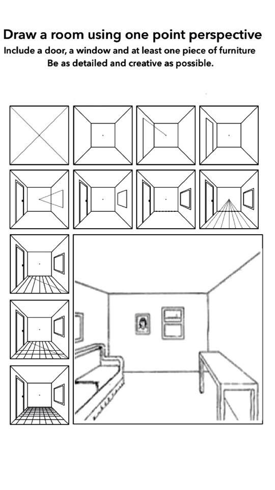 One Perspective Drawing Room: 1 Point Perspective Room Handout
