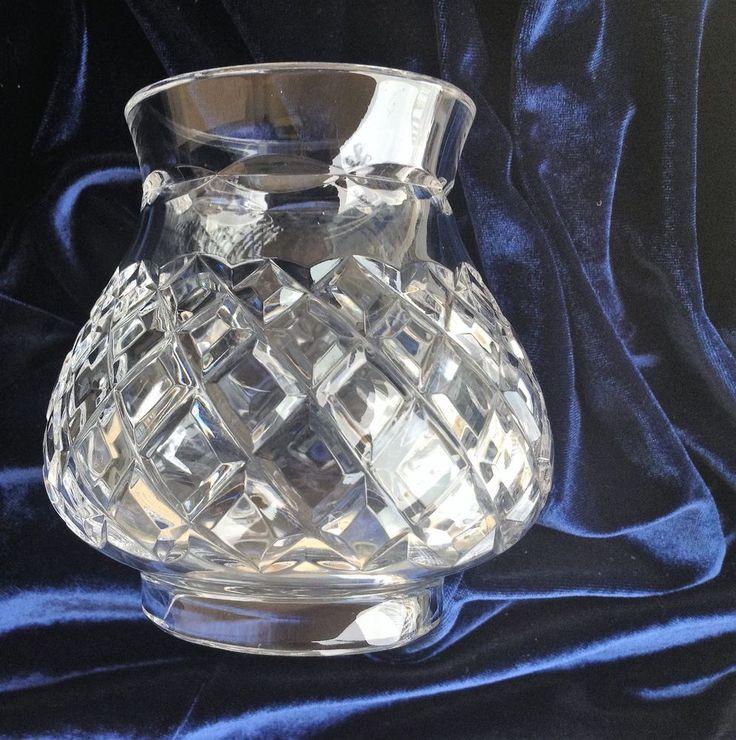 "BEAUTIFUL 24% LEAD CRYSTAL DIAMOND CUT LAMPSHADE CHANDELIER LIGHT 2 ¼"" FITTER #Handcut #DiamondCut"