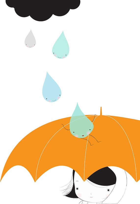 Rain is funny by Laura Di Francesco