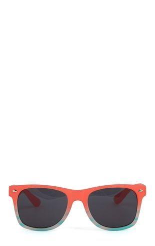 Deb Shops Plastic Wayfarer Sunglasses with Pattern at Bottom $5.34