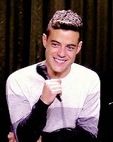 "thesewickedhands: "" ""Rami Malek being absolutely adorable during this interview, part 1 "" """