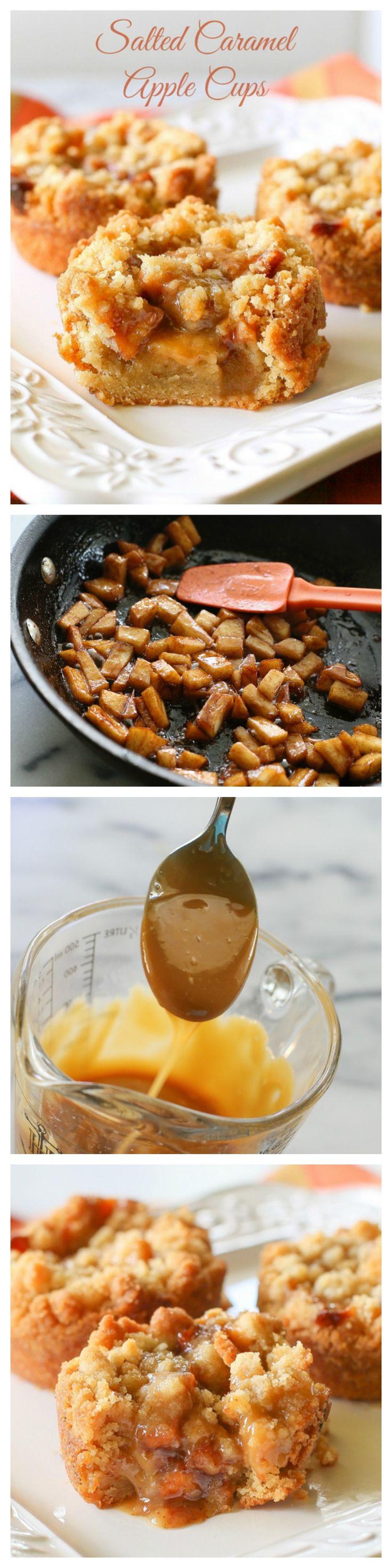 Salted Caramel Apple Cups