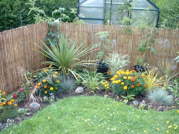 Starter garden from a few years back.....planted far too many grasses even though those were planted in pots they soon took over.