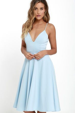 Sweeter than strawberry pie, the Sugared Petals Light Blue Midi Dress will satisfy your sweet tooth! Medium-weight knit forms a princess-seamed bodice with a plunging neckline, supported by adjustable spaghetti straps. Full skater skirt flares to a midi length. Hidden back zipper.