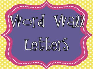 Live, Love, Laugh Everyday in Kindergarten: Word Wall Headers/Letters