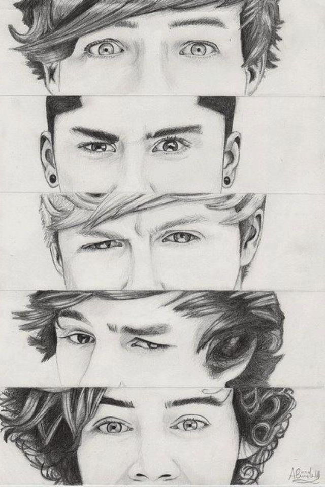 this is a really good drawing i love one direction