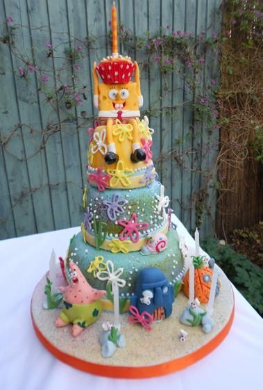 187 best Sponge Bob Cakes And Party Ideas images on Pinterest