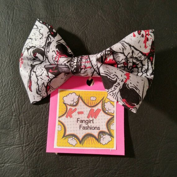 Check out this item in my Etsy shop https://www.etsy.com/listing/469542859/zombie-hair-bow