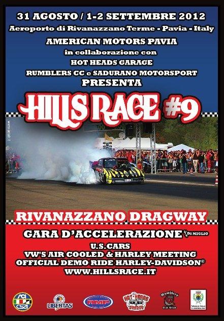 Hills Race 2012: appuntamento il 31 agosto, 1 e 2 settembre all'aeroporto di Rivanazzano Terme