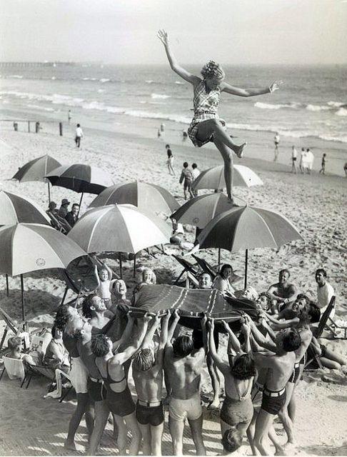 1930's beach fun.