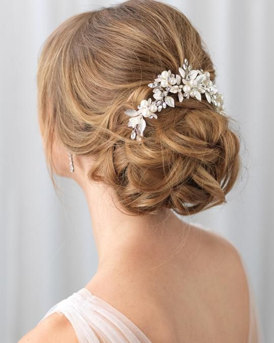 Julia Pearl & Floral Comb