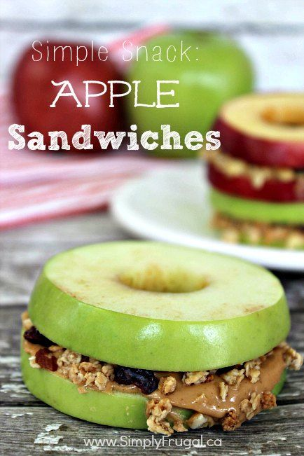 Simple Snack Apple Sandwiches - Simply Frugal