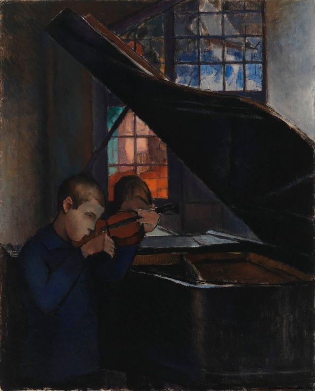 Alvar Cawén b. 1886-06-08 Korpilahti d. 1935-03-03 Helsinki By the Grand Piano 1925 © Finnish National Gallery