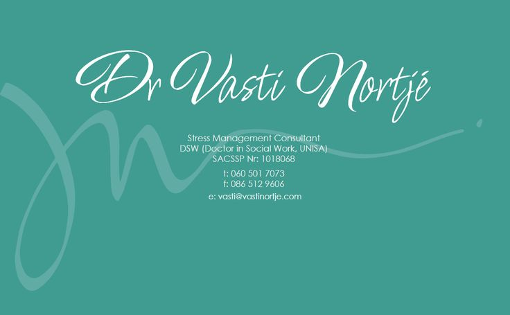 Temp Page for Dr Vasti Nortje