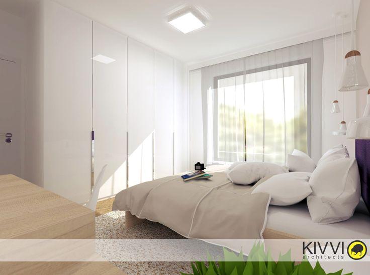 Návrh interiéru spálne. Interiérový dizajn od Kivvi architects_Bedroom interior www.kivvi.sk