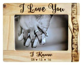 Star Wars I Love You/I Know Picture Frame  bruiloft Frame