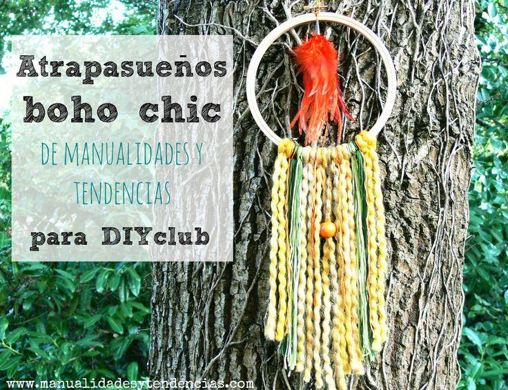Atrapasueños bohho chic de lana / Dreamcatcher tutorial www.manualidadesytendencias.com #atrapasueños #dreamcatcher #atrapereves #boho #chic #lana #wool #wall #art #laine #homedecor #decoración #decoration #déco