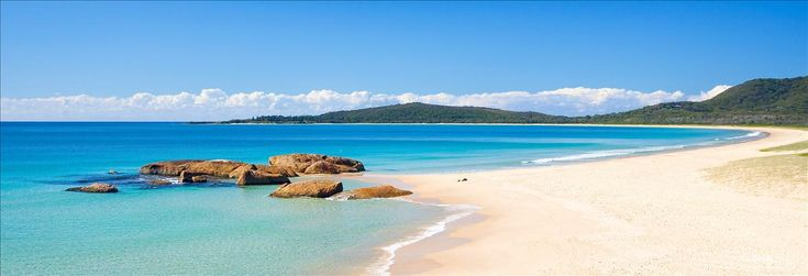 Main Beach, Trial Bay, South West Rocks, NSW Summer sun