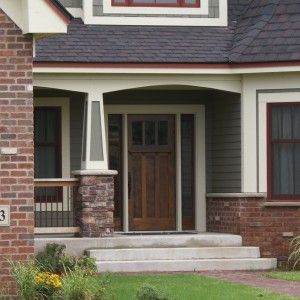 Pedestal porches and craftsman style exterior on pinterest for Craftsman columns