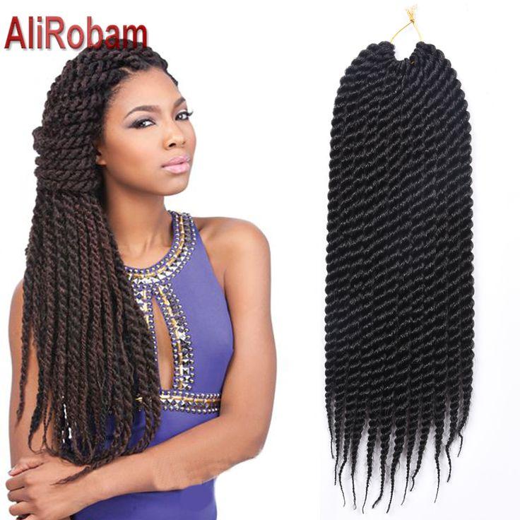 Ombre Crochet Braid Hair 18inch 12roots/pack Big Senegalese Twist Hair Synthetic Braiding Hair Extension Havana Mambo Twist