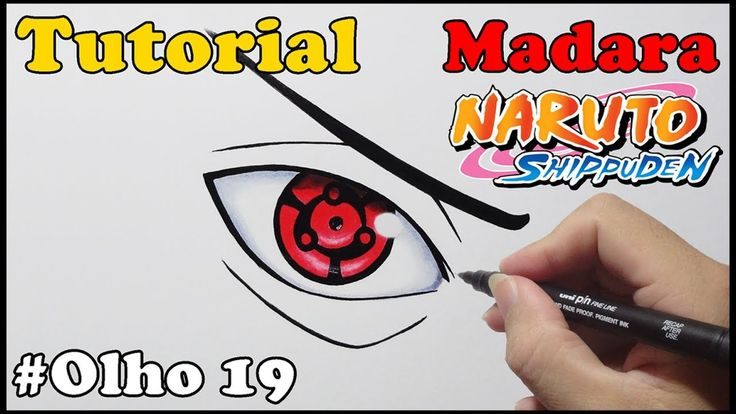 Como Desenhar Eternal Mangekyou Sharingan do Madara - How to Draw Madara...
