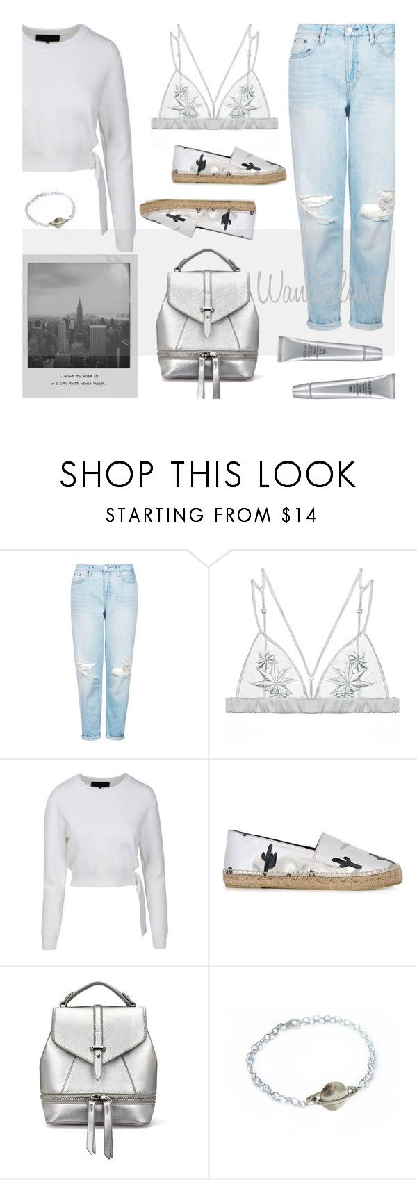 """Wanderlust"" by alongcametwiggy ❤ liked on Polyvore featuring Topshop, Fleur of England, Kendall + Kylie, Kenzo, Meggie and Shiseido"
