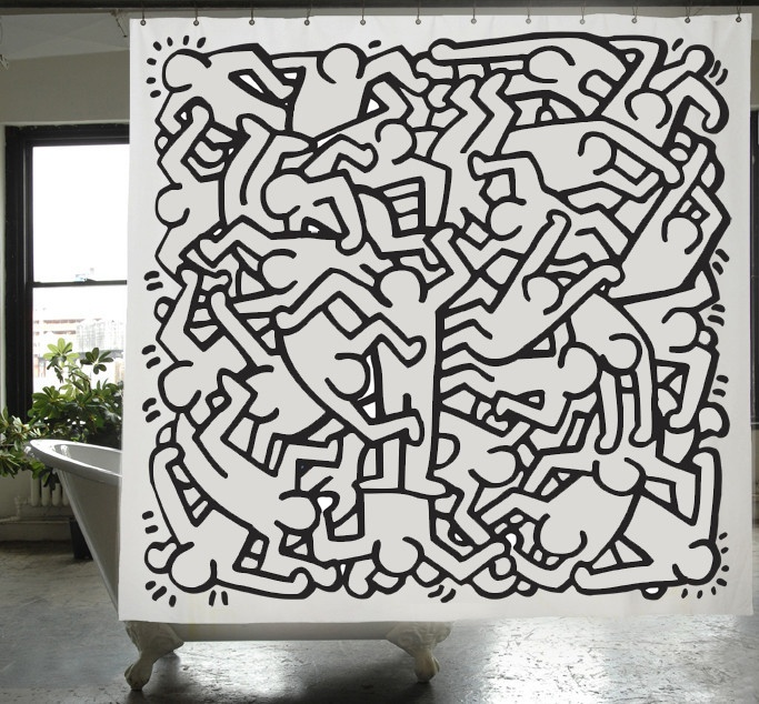 Keith Haring Shower Curtain