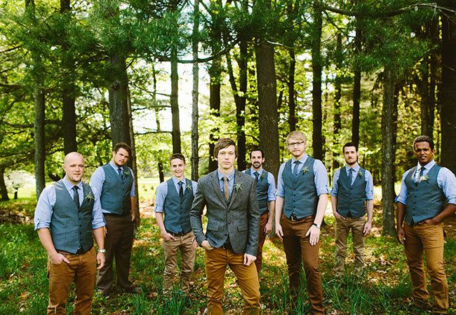 The Latest Groom Trend? Lumberjack Chic. | Photo by:  Redfield Photography | TheKnot.com